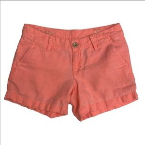 Lilly Pulitzer The Calla Linen Short Peachy Pink